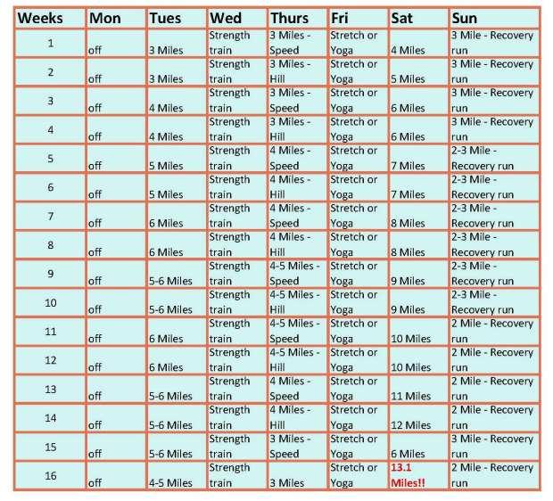 16 week plan